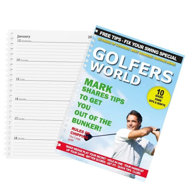 Personalised Golfers World A5 Diary