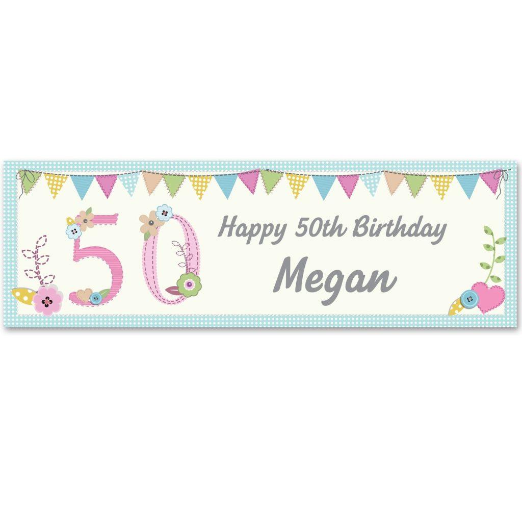 Personalised Birthday Craft Banner