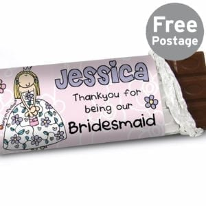Personalised Bang on the Door Wedding Girls Milk Chocolate Bar