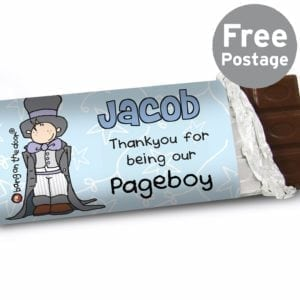Personalised Bang on the Door Wedding Boys Milk Chocolate Bar