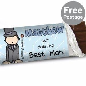 Personalised Bang on the Door Wedding Male Milk Chocolate Bar