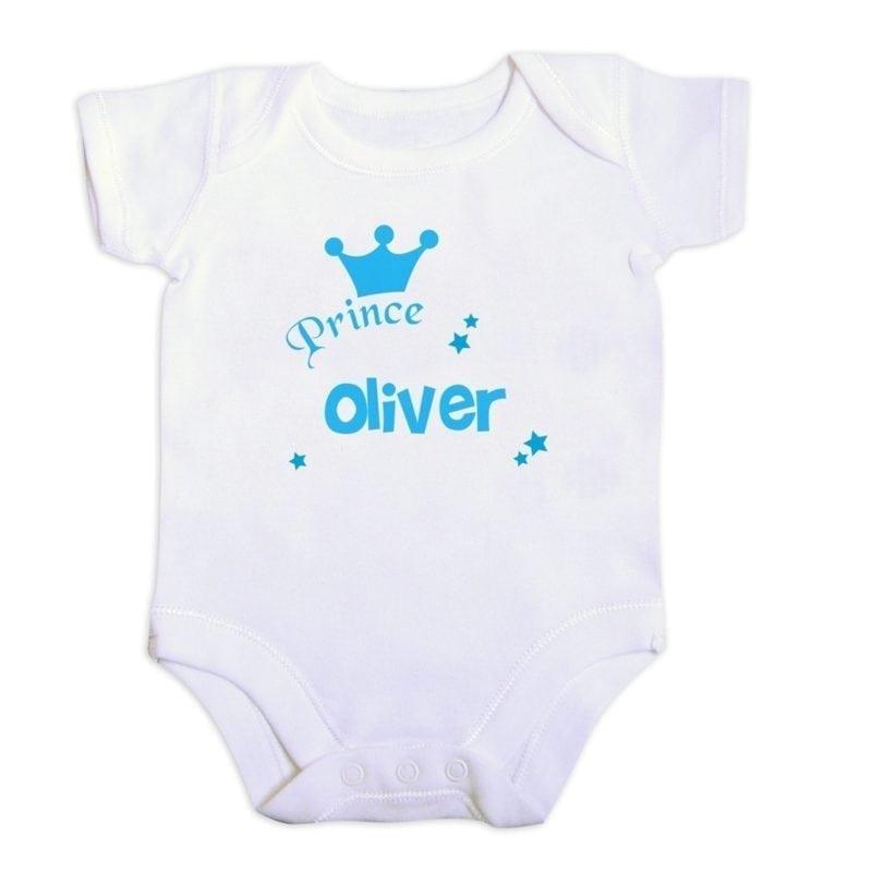 Personalised Prince Baby Vest