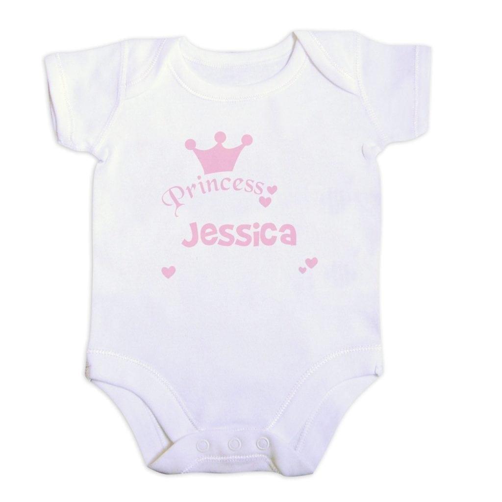 Personalised Princess Baby Vest