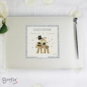 Personalised Boofle Wedding Guest Book & Pen