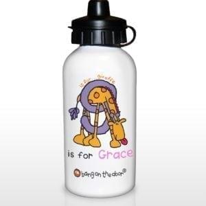 Personalised Bang On The Door Animal Alphabet Girls Drinks Bottle