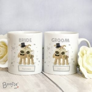 Personalised Boofle Wedding Couple Mug Set