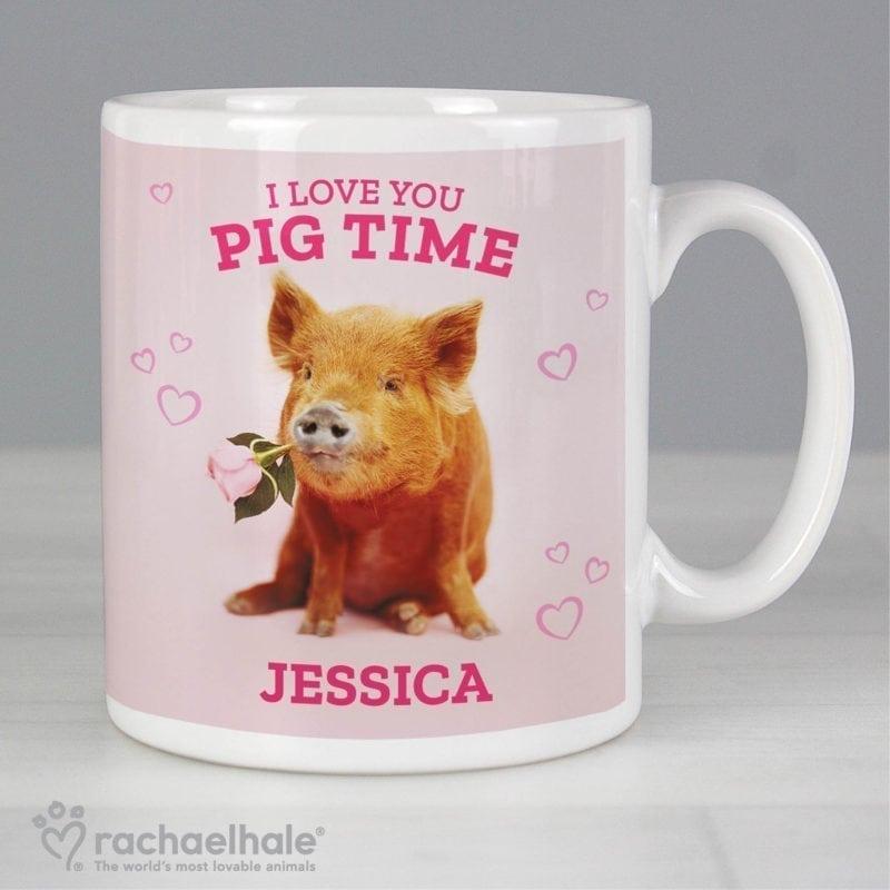 Personalised Rachael Hale 'I Love You Pig Time' Mug