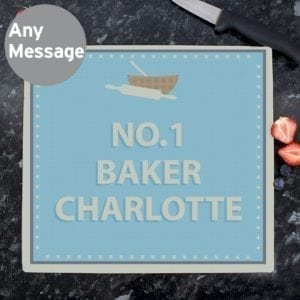 Personalised Baker Glass Chopping Board