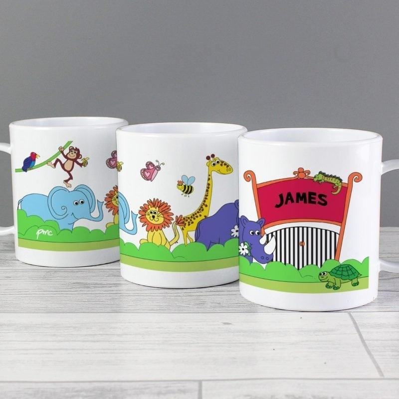 Personalised Zoo Plastic Cup