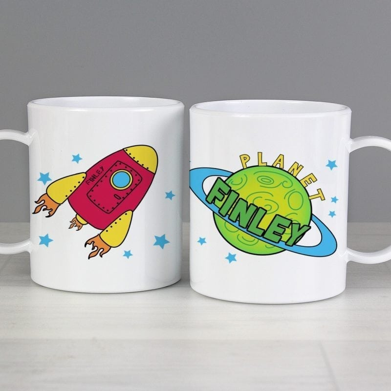 Personalised Space Plastic Cup