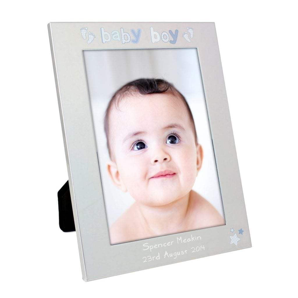 Personalised Silver 5x7 Baby Boy Photo Frame