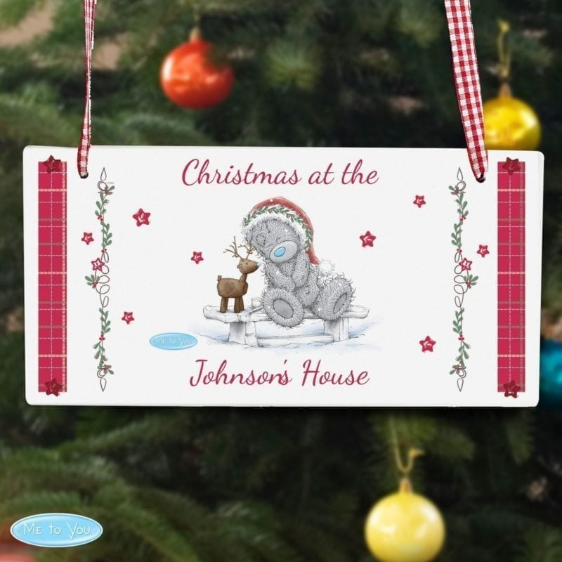 Personalised Me To You Reindeer Wooden Sign
