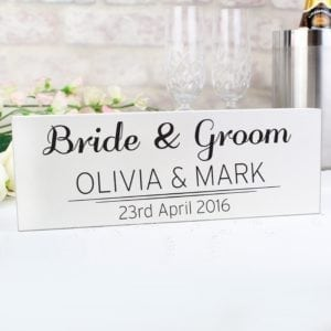 Personalised Classic Wooden Block Sign
