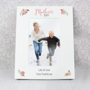 Personalised Floral Bouquet Mothers Day 4x6 Photo Frame