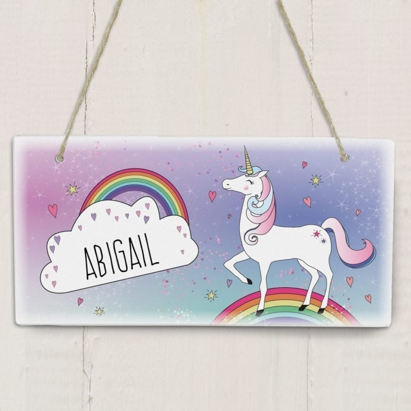 Personalised Unicorn Wooden Sign
