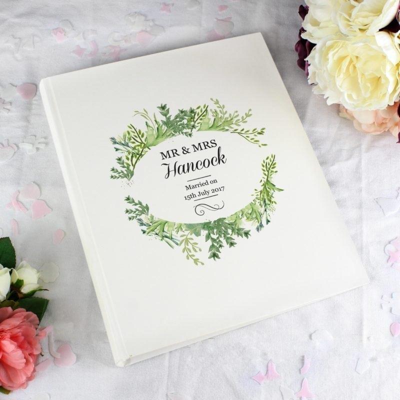 Personalised Fresh Botanical Traditional Album