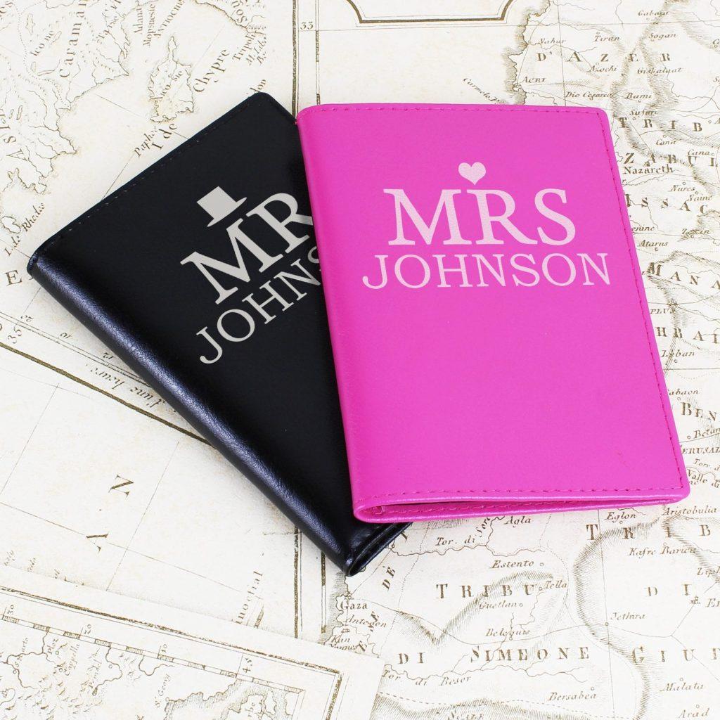 Personalised Mr & Mrs Passport Holders Set