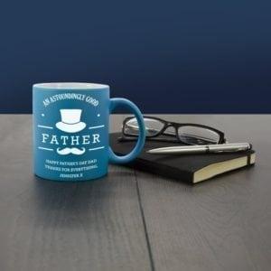 Astoundingly Good Father Personalised Matte Coloured Mug