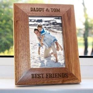 Daddy My Best Friend Engraved Photo Frame