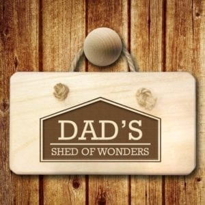 His Favourite Space Personalised Wooden Sign