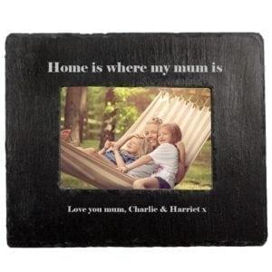 Home Is Where Mum Is Slate Photoframe