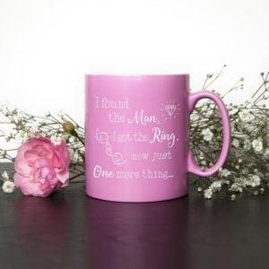 I Found My Man Now I Need My Girl Personalised Bridesmaid Mug