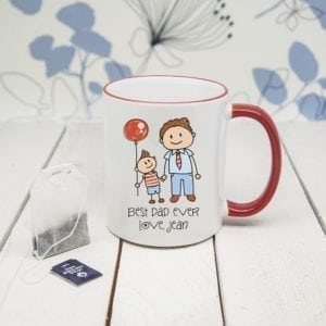 I Love My Dad Personalised Kid's ArtworkColoured Mug