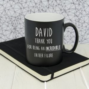 Incredible Father Figure Black Matte Mug