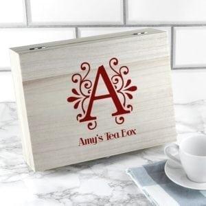 'Love Chai' Tea Box With Initial