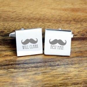 Moustache Best Man Cufflinks