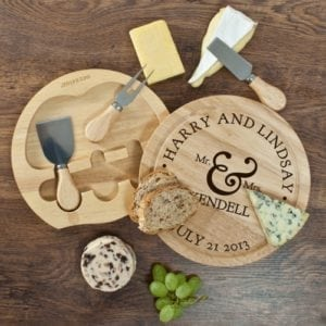 Mr and Mrs Classic Cheese Board Set