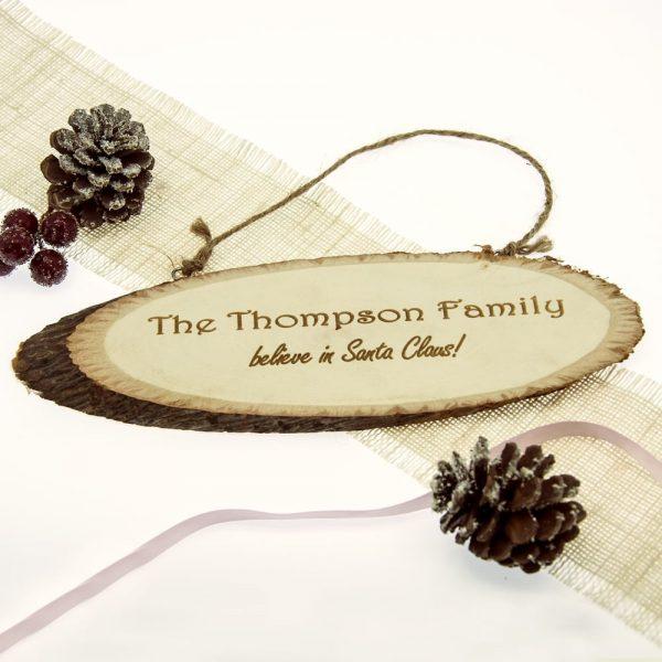 We Believe In Christmas Wooden Sign
