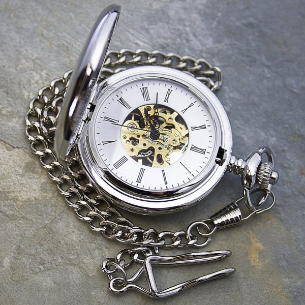 Personalised Heritage Dual-Side Pocket Watch