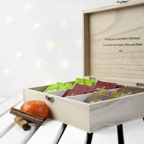 Personalised Festive Woodland Christmas Tea Box