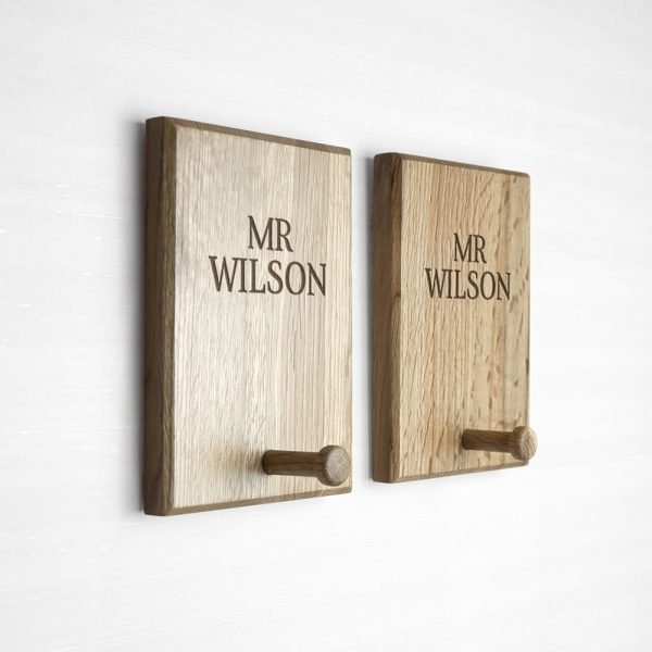 Personalised Classic Couples Peg Hook