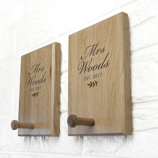 Personalised Established Couples Peg Hook