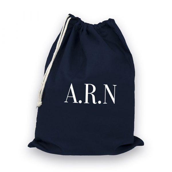 Personalised Navy Boot Bag