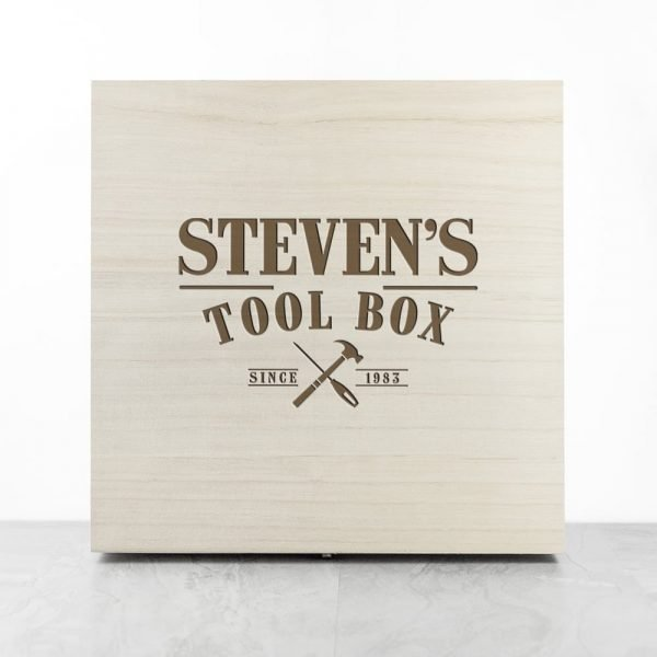 Personalised Wooden Tool Box
