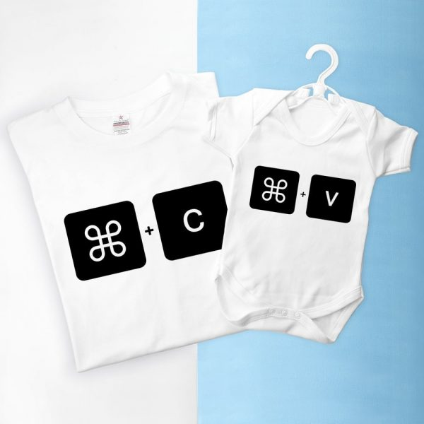 Personalised Daddy and Me Command+V Set