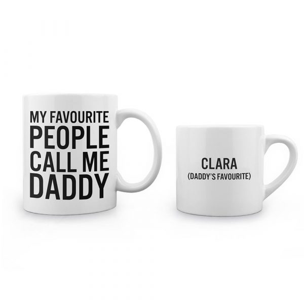 Personalised Daddy & Me Favourite People Mugs