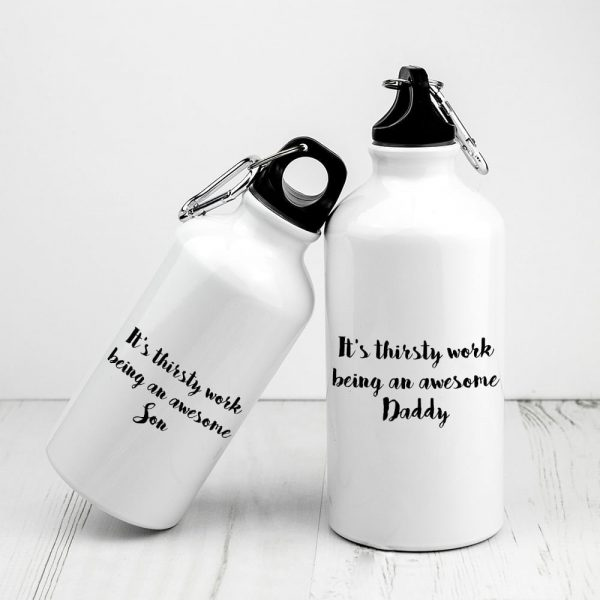 Personalised Daddy & Me Sports Water Bottles