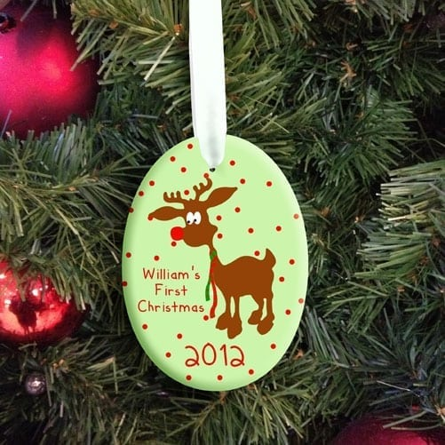 Personalised Baby Reindeer First Christmas Decoration For You