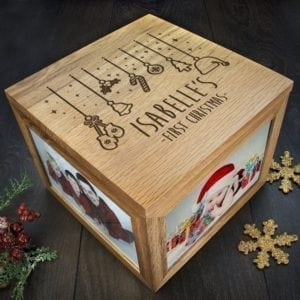 Personalised Baby's First Christmas Memory Box