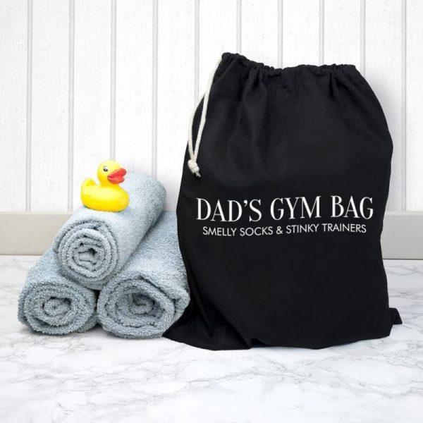 Personalised Cotton Black Gym Bag