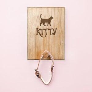 Personalised Cat Silhouette Peg Hook