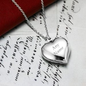Personalised Cherish Heart Necklace
