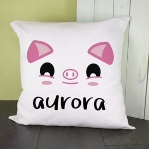 Personalised Cute Piggy Eyes Cushion Cover