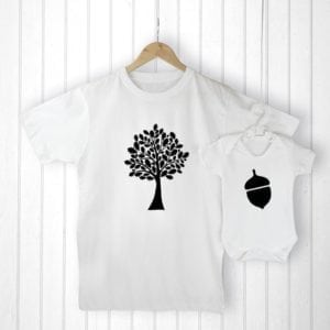 Personalised Daddy and Me Acorn Set