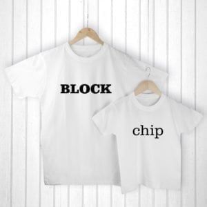 Personalised Daddy and Me Chip off the Old Block White T-Shirts