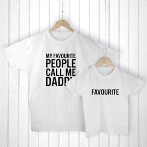 Personalised Daddy and Me Favourite People White T-Shirts